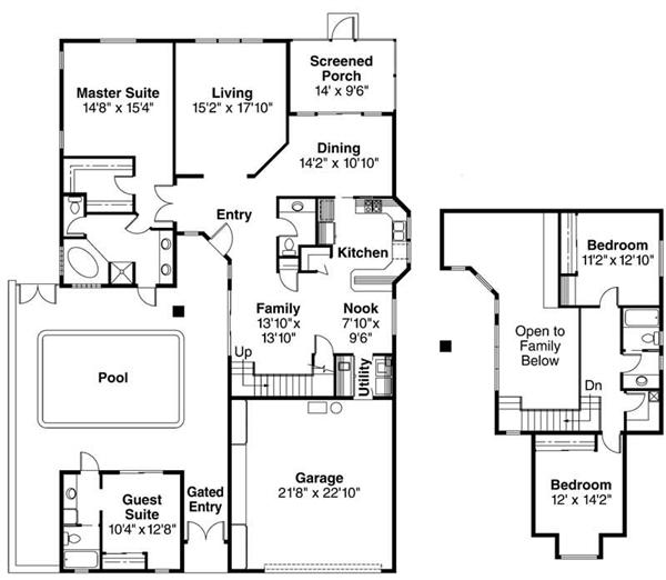 108 1328 floor plan with guest quarters