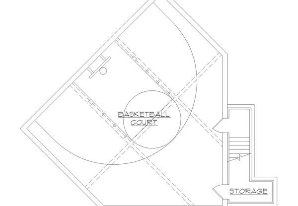 Floor Plan 135-1036 Court Level with Basketball Court