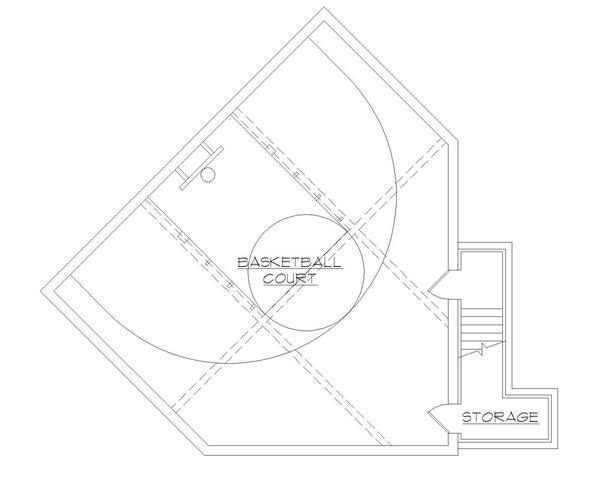 Floor Plan 135 1036 Court Level with Basketball Court house plans with basketball courts houseplans,Home Plans With Indoor Basketball Court