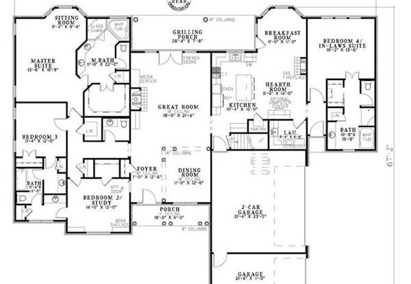 Floor Plan with In Law Suite 153 1806 600x415 beautiful house plans with inlaw apartments ideas decorating,Home Designs With Inlaw Suites