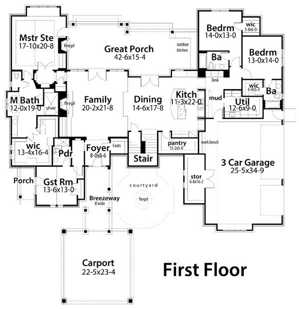 House Plan with Open Floor Plan Layout. Goodbye Dining Rooms  Hello Open Floor Plans   Houseplans