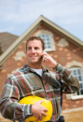 Contractor - Builder on Phone