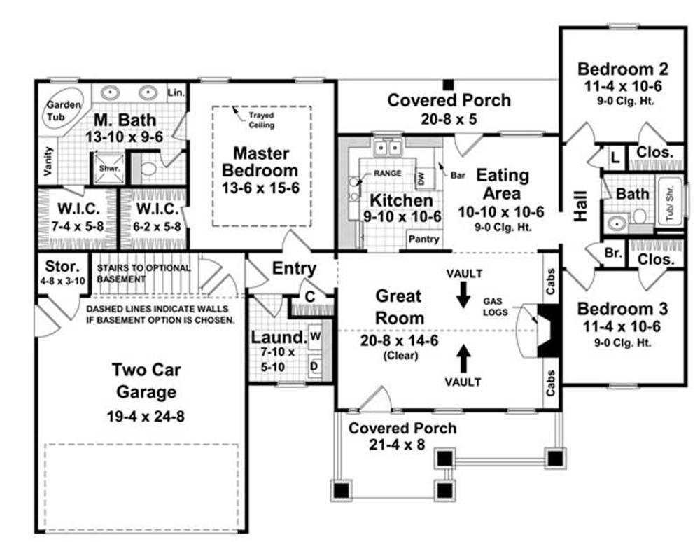Plan 141-1020 - Floor Plan